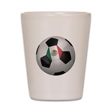 Mexican soccer ball Shot Glass