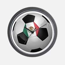 Mexican soccer ball Wall Clock