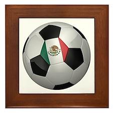 Mexican soccer ball Framed Tile