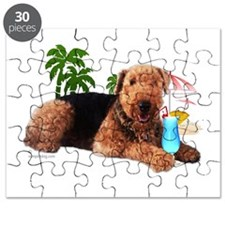 Airedale at the Beach by Vamp Puzzle