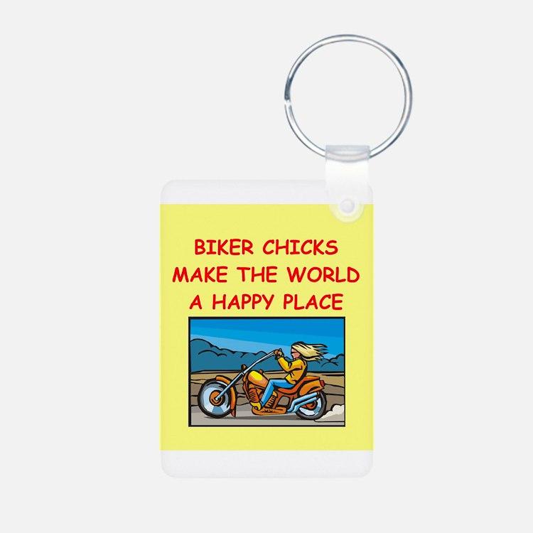 biker chicks Keychains