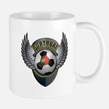 Portuguese soccer ball with crest Small Small Mug