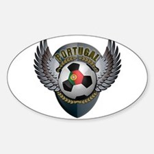 Portuguese soccer ball with crest Sticker (Oval)