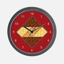 Vintage quilt Wall Clock