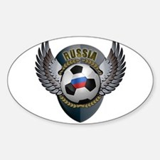 Russian soccer ball with crest Decal