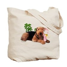 Airedale at the Beach by Vampire Dog Tote Bag