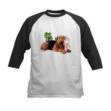 Airedale at the Beach by Vampire Dog Tee