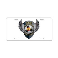 Spanish soccer ball with crest Aluminum License Pl