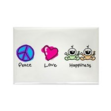 Peace Love and Twins Rectangle Magnet