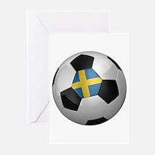 Swedish soccer ball Greeting Cards (Pk of 10)