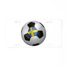 Swedish soccer ball Aluminum License Plate