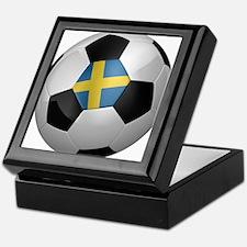 Swedish soccer ball Keepsake Box