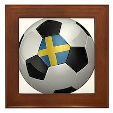 Swedish soccer ball Framed Tile