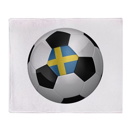 Swedish soccer ball Throw Blanket