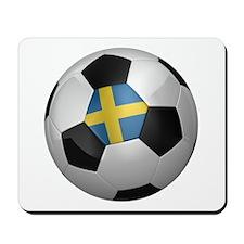 Swedish soccer ball Mousepad