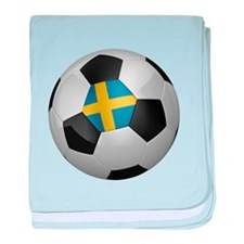 Swedish soccer ball baby blanket