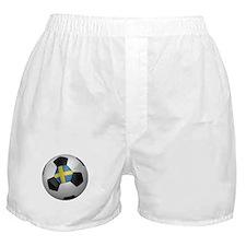 Swedish soccer ball Boxer Shorts