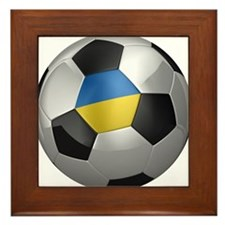 Ukrainian soccer ball Framed Tile