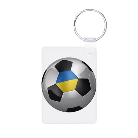 Ukrainian soccer ball Aluminum Photo Keychain