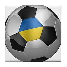 Ukrainian soccer ball Tile Coaster