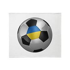 Ukrainian soccer ball Throw Blanket