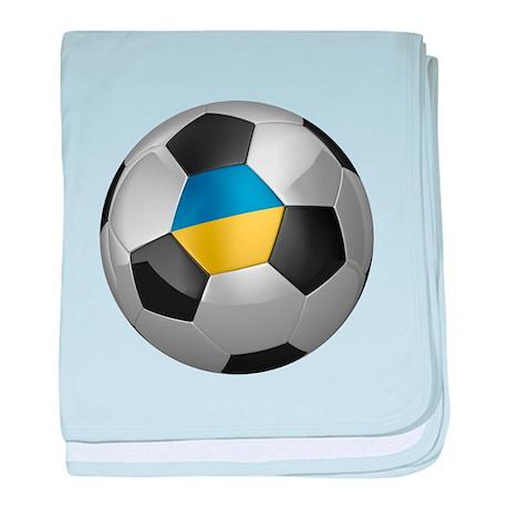 Ukrainian soccer ball baby blanket