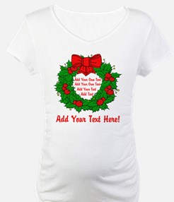Add Your Own Text Wreath Shirt