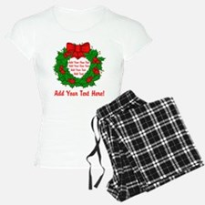 Add Your Own Text Wreath pajamas