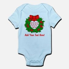Add Your Own Text Wreath Infant Bodysuit