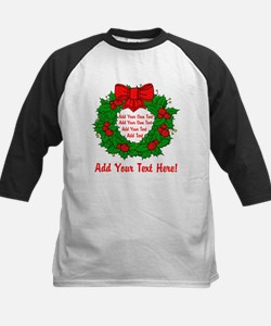 Add Your Own Text Wreath Tee