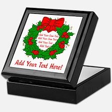 Add Your Own Text Wreath Keepsake Box