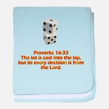 Proverbs 16:33 baby blanket