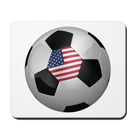 American soccer ball Mousepad