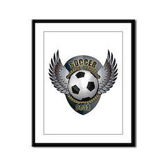 Soccer ball Framed Panel Print