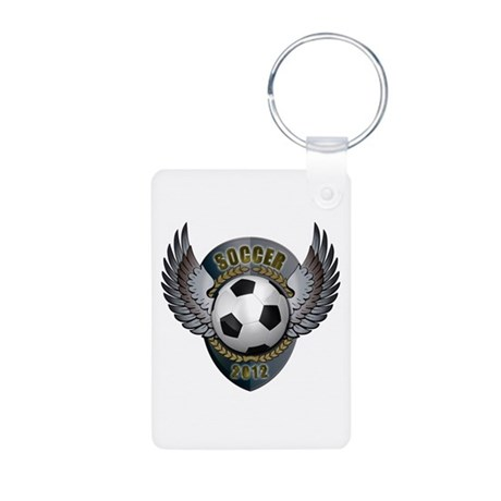Soccer ball Aluminum Photo Keychain