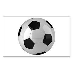 Soccer ball Sticker (Rectangle)