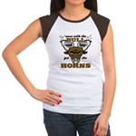 Messed With The Bull Women's Cap Sleeve T-Shirt