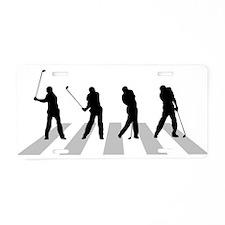 Golfer Crossing 3 Aluminum License Plate