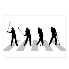 Golfer Crossing 3 Postcards (Package of 8)