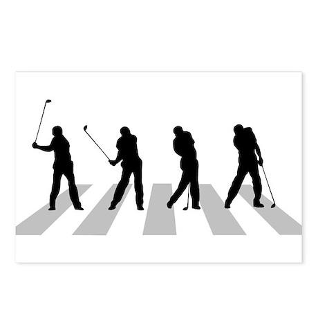 Golfer Crossing 3 Postcards (Package of 8)