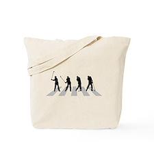 Golfer Crossing 3 Tote Bag