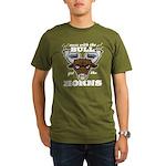 Messed With The Bull Organic Men's T-Shirt (dark)