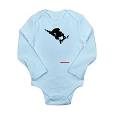 Abstract Aerial Long Sleeve Infant Bodysuit