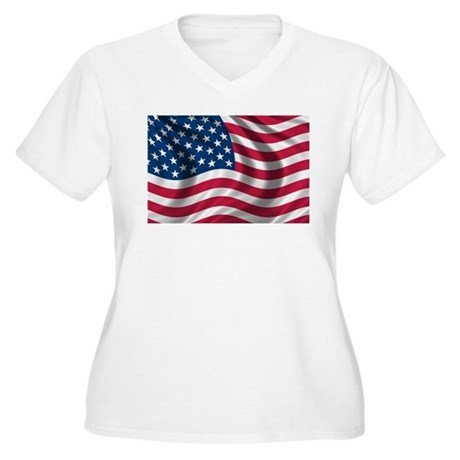 american flag women 39 s plus size v neck t shirt american