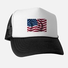 American Flag Trucker Hat