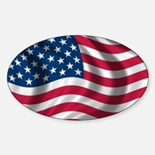 American Flag Sticker (Oval)