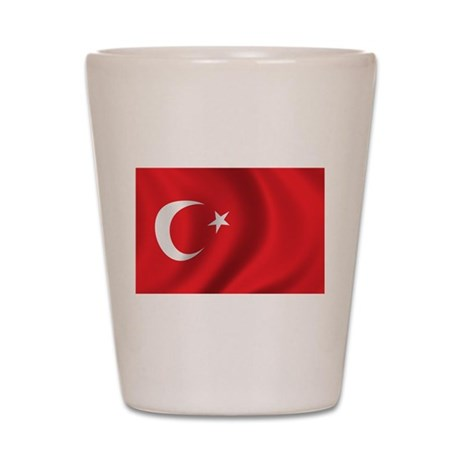 Flag of Turkey Shot Glass