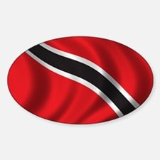 Flag of Trinidad and Tobago Sticker (Oval)