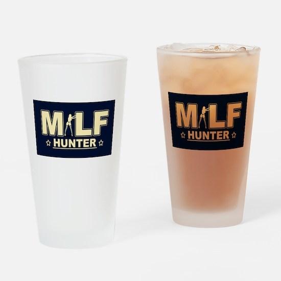 MILF Hunter Drinking Glass