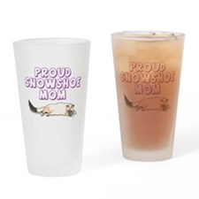 Proud Snowshoe Mom Drinking Glass